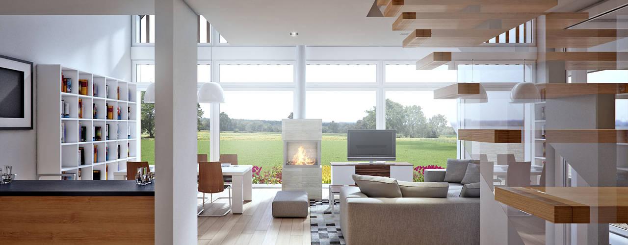 Salas de estar modernas por LK & Projekt Sp. z o.o. Moderno