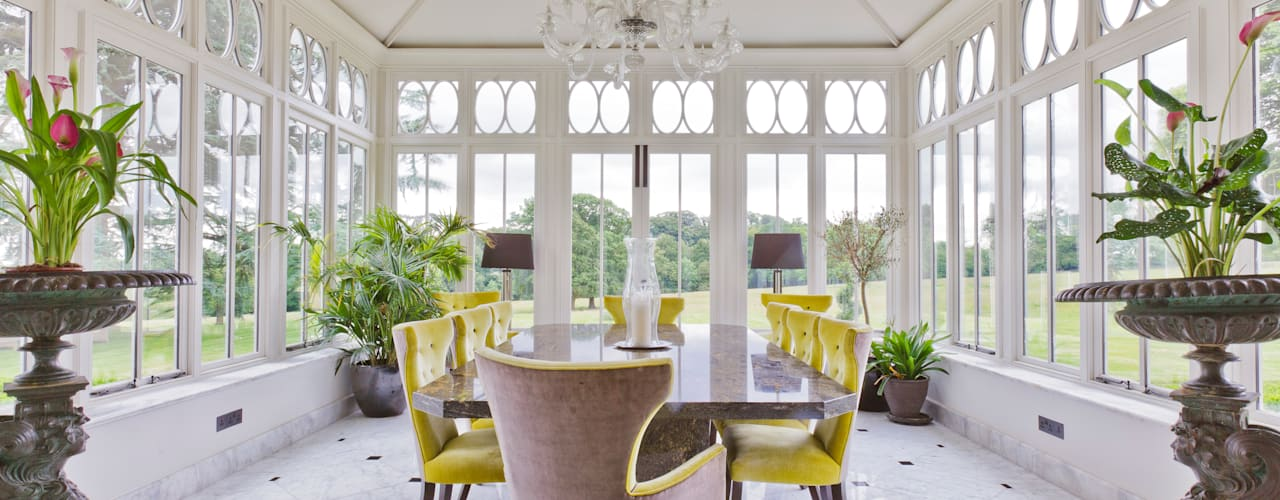 Impressive Dining Conservatory: classic Conservatory by Vale Garden Houses