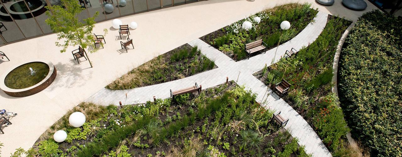 Binnentuin voor dementerende ouderen Andrew van Egmond (ontwerp van tuin en landschap) Moderne gezondheidscentra