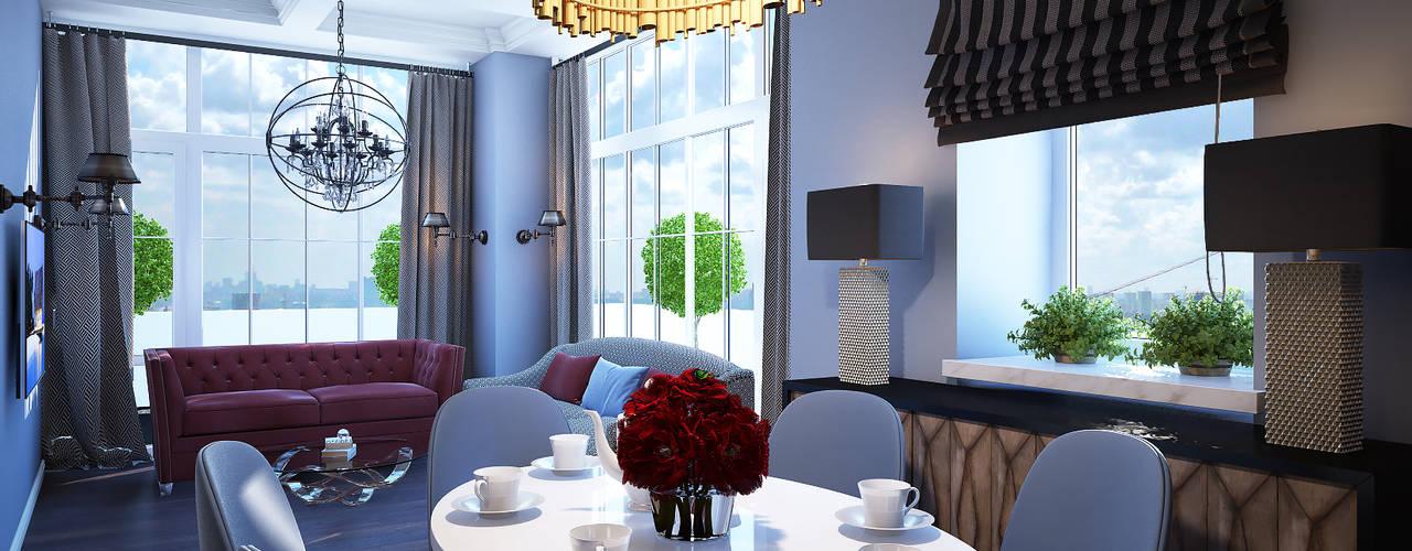 Projekty,  Salon zaprojektowane przez Natalia Solo Design