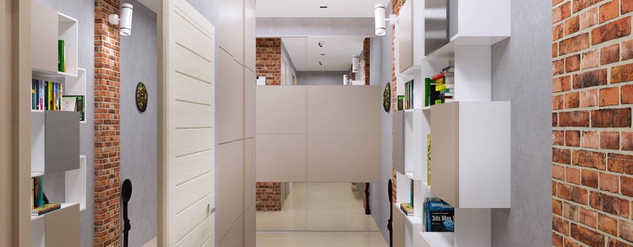 Minimalist corridor, hallway & stairs by homify Minimalist