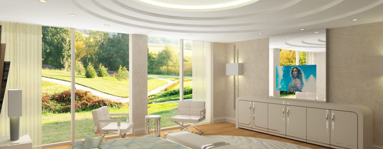 15300 Misia Residence Modern Yatak Odası Inan AYDOGAN /IA Interior Design Office Modern
