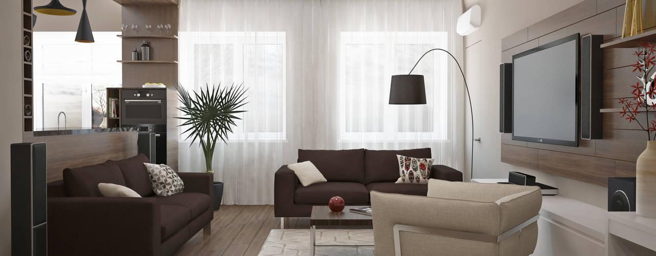 Квартира 110 кв.м г. Ульяновск: Гостиная в . Автор – Olesya Parkhomenko