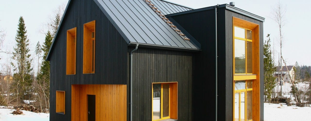 #чёрногорчичныйдом Дома в скандинавском стиле от Snegiri Architects Скандинавский