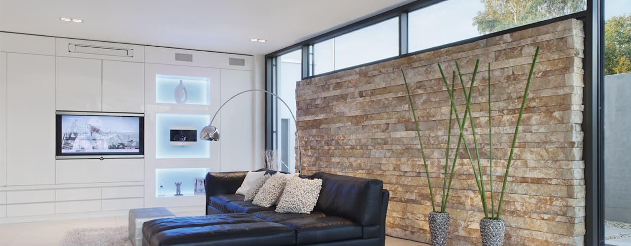 Salas / recibidores de estilo minimalista por Skandella Architektur Innenarchitektur