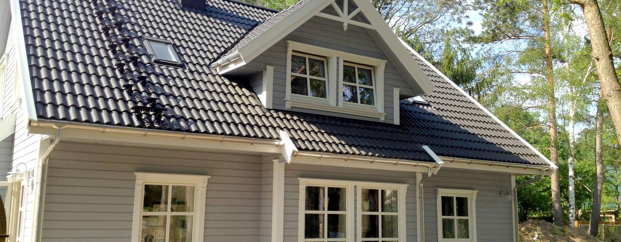 Дома в скандинавском стиле от Akost GmbH 'Ihr Traumhaus aus Norwegen' Скандинавский