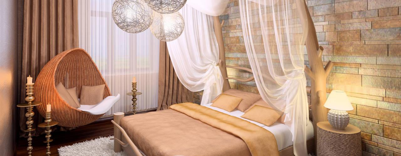 Cottage in Eco style: Спальни в . Автор – HandZart
