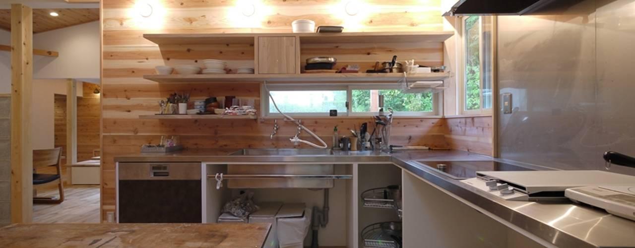 森を望む家 北欧デザインの キッチン の みゆう設計室 北欧