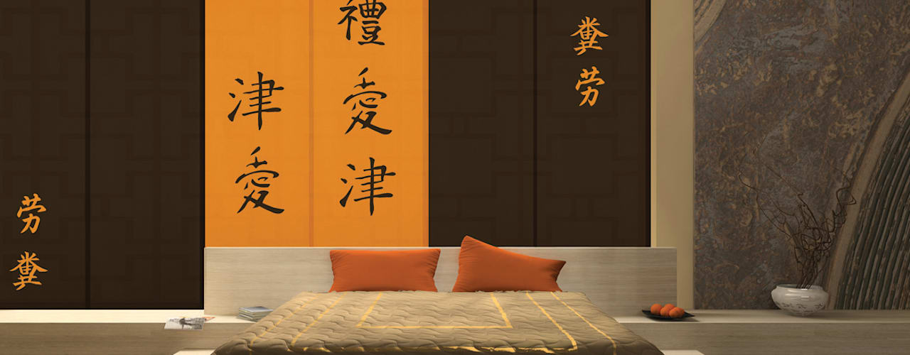 Asian style bedroom by LA VENTANA DE COLORES Asian