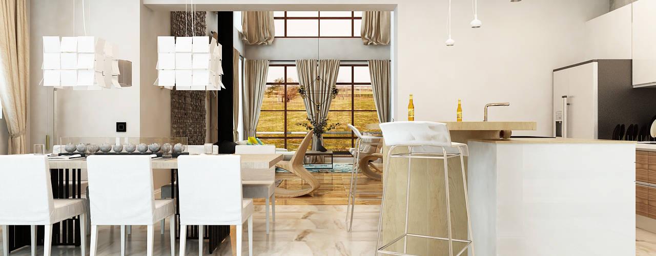 Minimalist Yemek Odası Apolonov Interiors Minimalist
