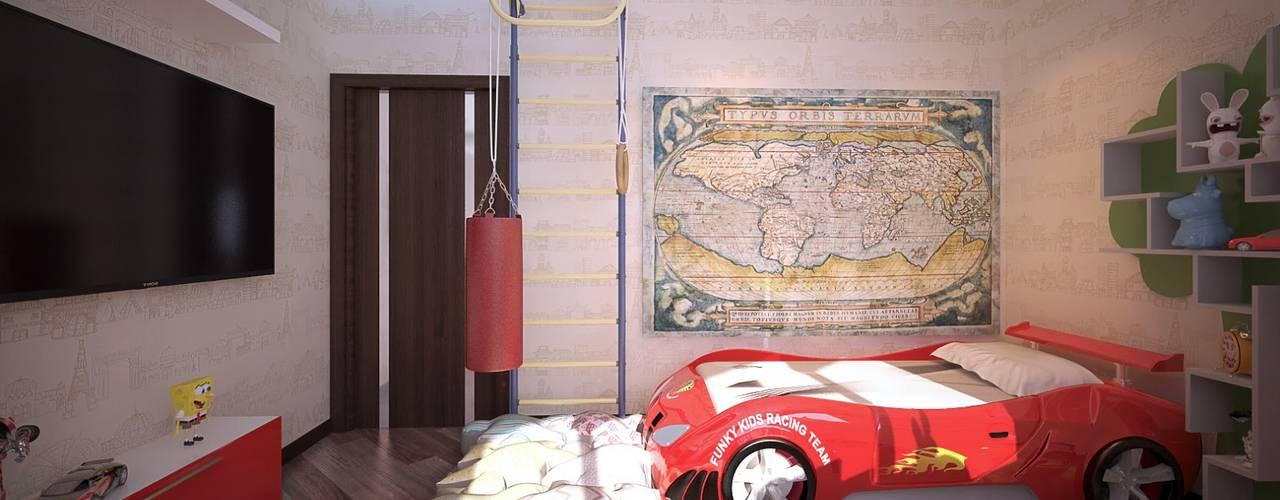 Nursery/kid's room by Студия интерьерного дизайна happy.design