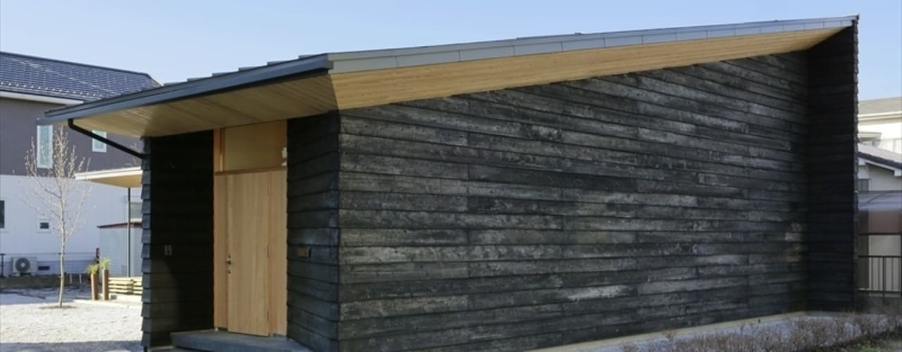 Yakisugi House 日本家屋・アジアの家 の 長谷川拓也建築デザイン 和風