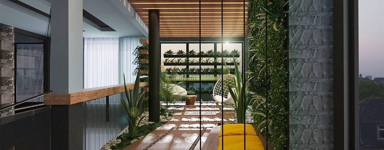 Jardines de invierno de estilo ecléctico de GM-interior Ecléctico