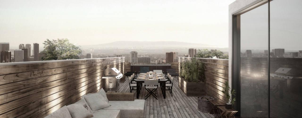 Authentic Lofts Eklektik Balkon, Veranda & Teras NATURAL LIGHT DESIGN STUDIO Eklektik