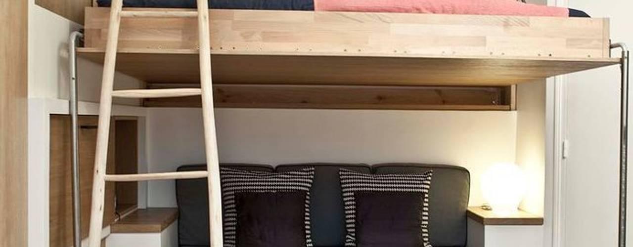 Спальня в скандинавском стиле от Géraldine Laferté Скандинавский