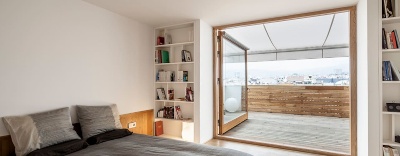 Camera da letto in stile in stile Minimalista di Room Global