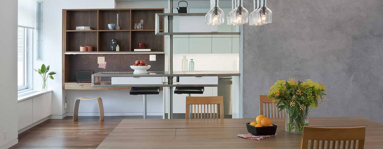 E 53rd St Apartment, NYC Modern Dining Room by Eisner Design Modern