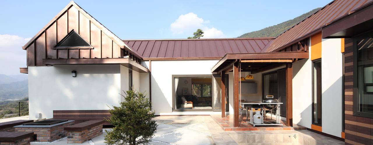Projekty,  Domy zaprojektowane przez 주택설계전문 디자인그룹 홈스타일토토