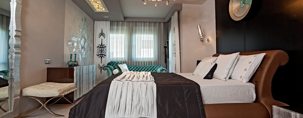 غرفة نوم تنفيذ Mimoza Mimarlık, حداثي