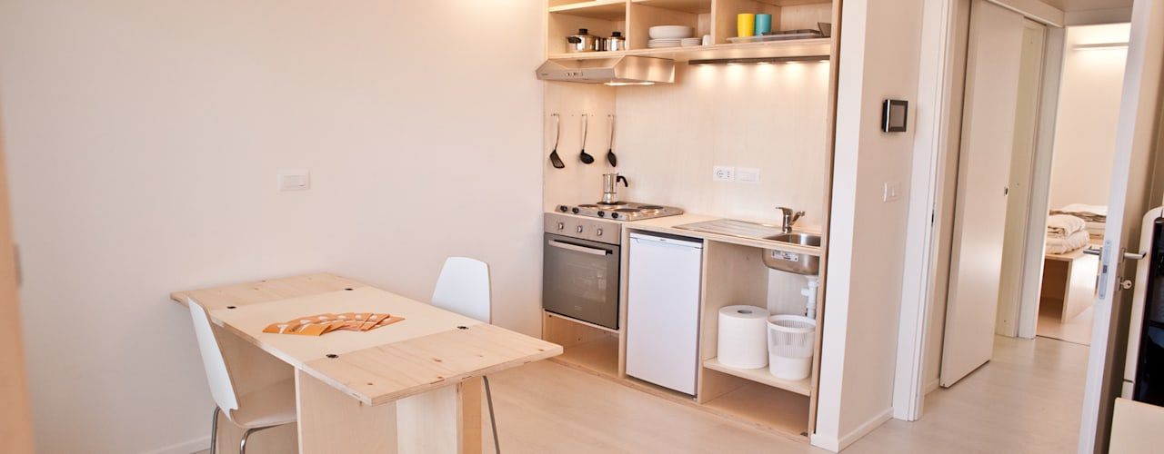 Industrial style kitchen by TRA - architettura condivisa Industrial