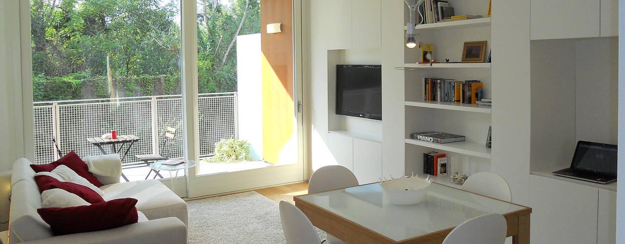 3 apartamentos peque os pero aprovechados al m ximo for Soluciones apartamentos pequenos