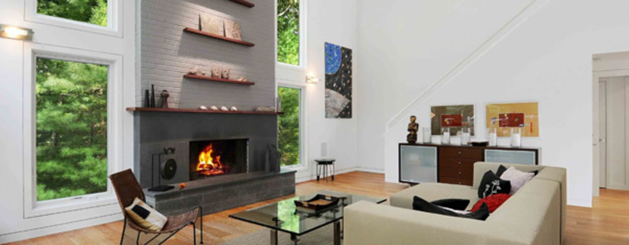 Modern Beach House - East Hampton, NY Eisner Design Modern living room