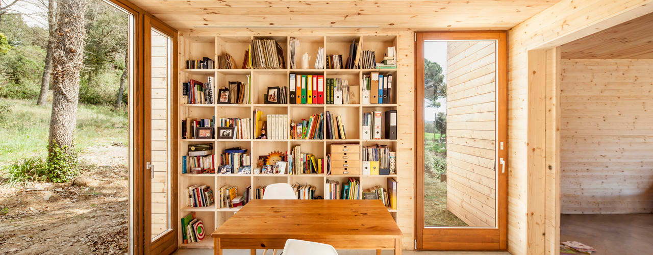 Casa GG Modern Study Room and Home Office by Alventosa Morell Arquitectes Modern