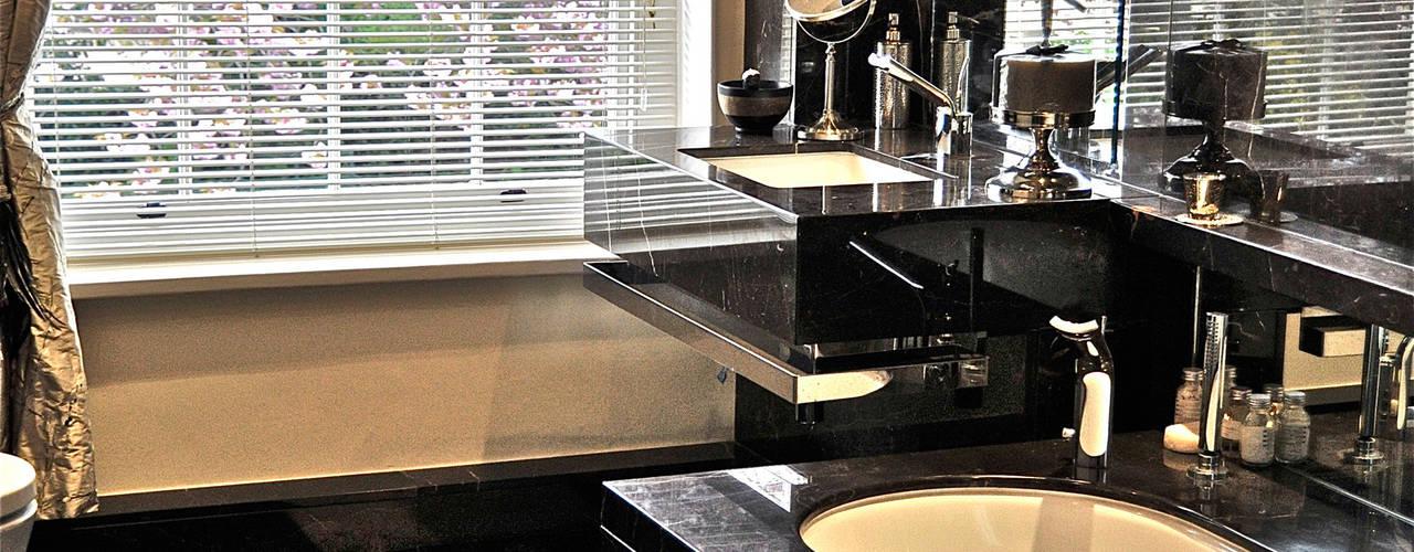 Black Marble Bathroom, Orset Baños de estilo moderno de Ogle luxury Kitchens & Bathrooms Moderno
