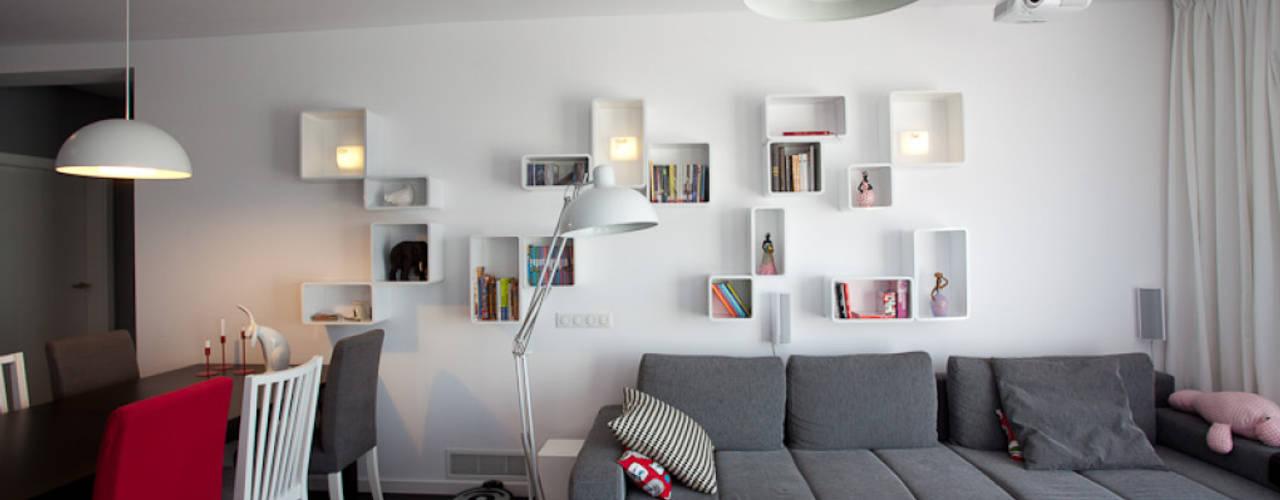 Wnętrze FOLK Skandynawski salon od KLIFF DESIGN Skandynawski