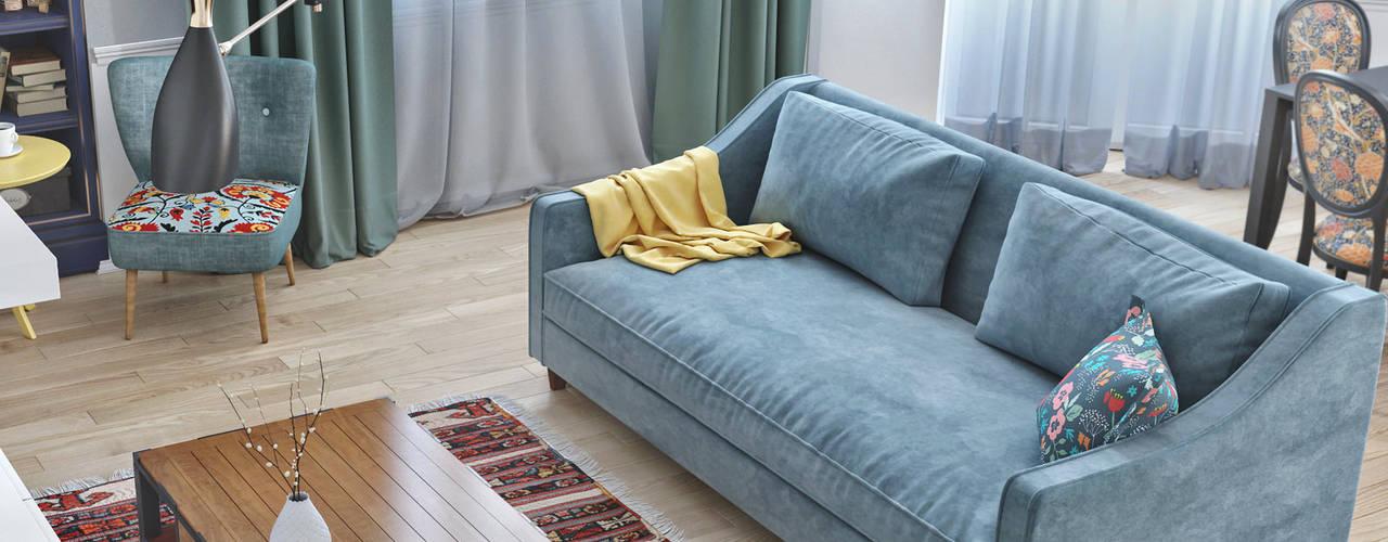 غرفة المعيشة تنفيذ ILKIN GURBANOV Studio
