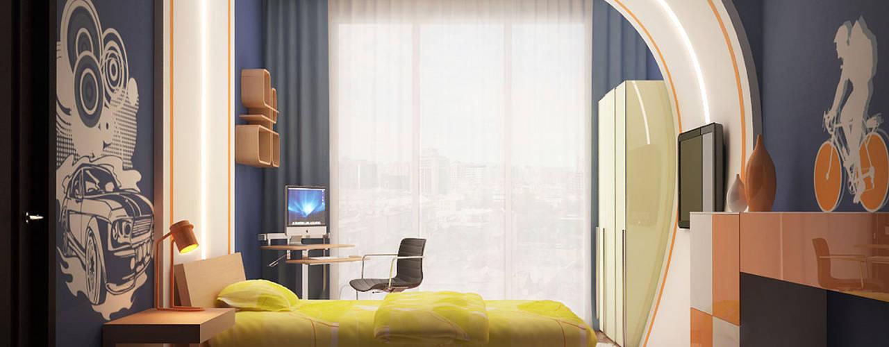 Фрагменты детских комнат в Баку: Детские комнаты в . Автор – ILKIN GURBANOV Studio, Модерн