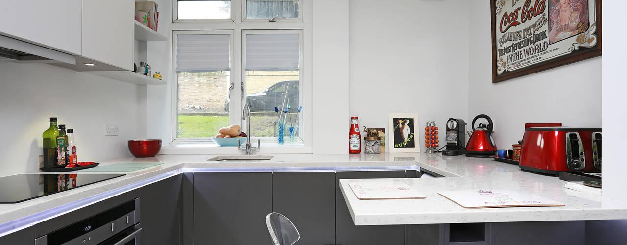 Matt Kitchens Cozinhas modernas por LWK London Kitchens Moderno