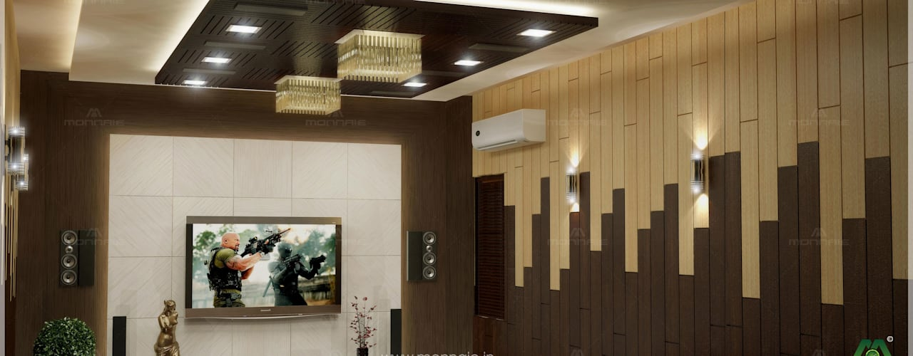 Home theatre: modern Media room by Monnaie Interiors Pvt Ltd