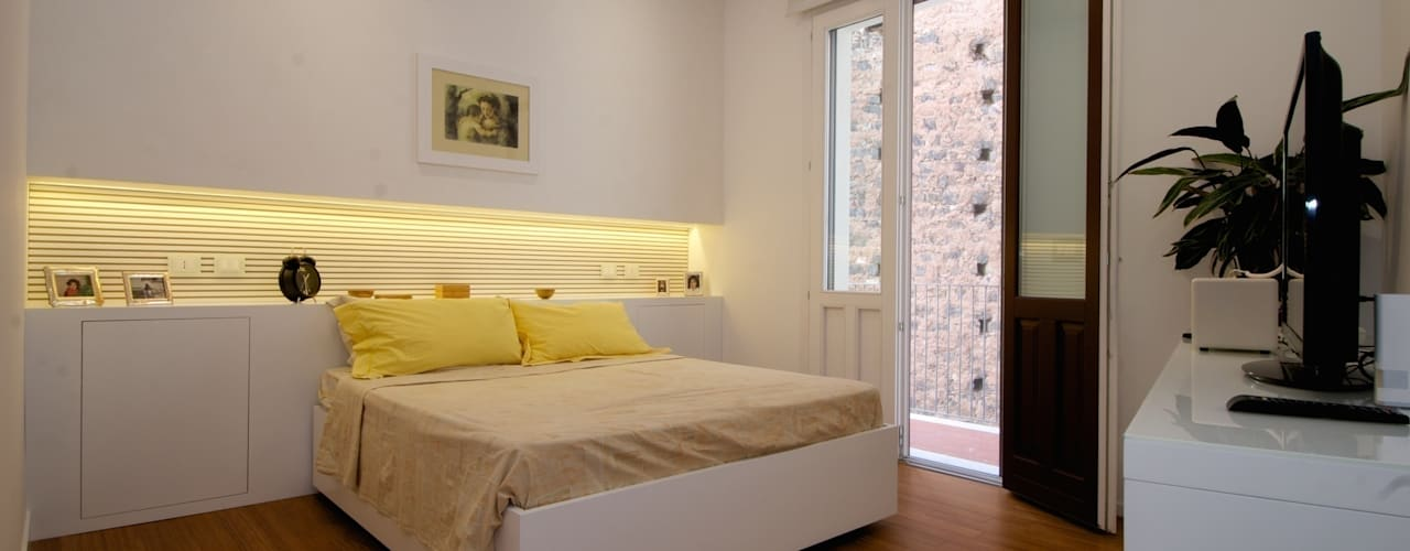 غرفة نوم تنفيذ CalìArchitetti , حداثي