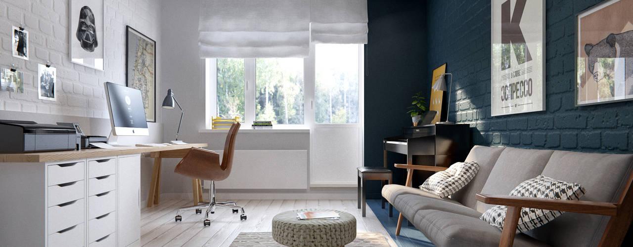 Bureau de style de style Scandinave par INT2architecture