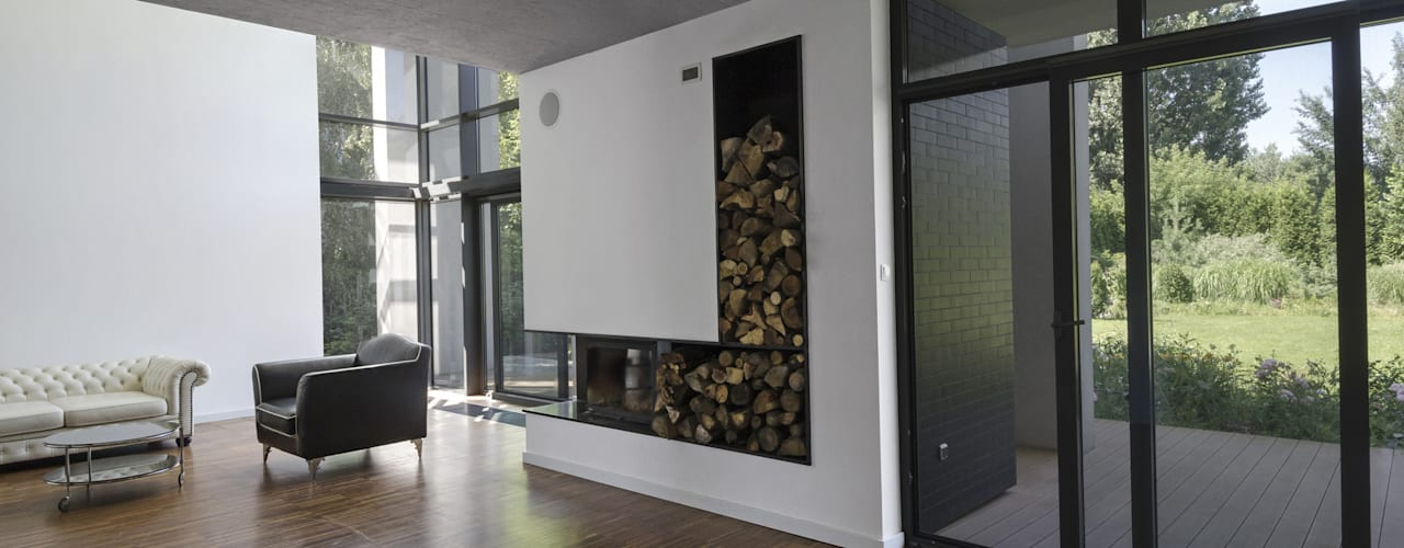 Гостиная в стиле модерн от PAWEL LIS ARCHITEKCI Модерн
