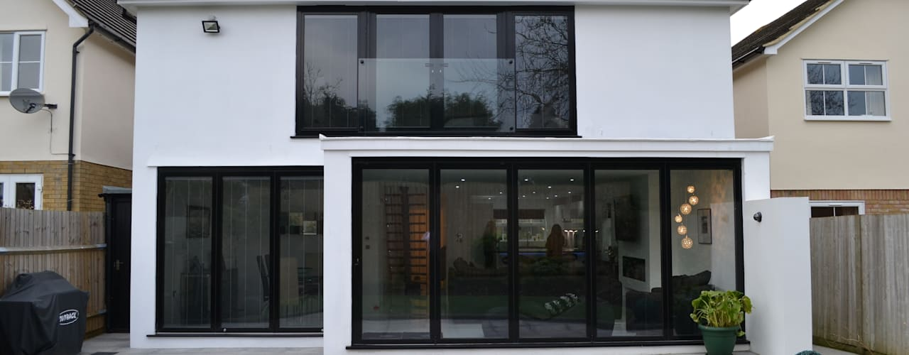 Rear Elevation - As Built Moderne huizen van Arc 3 Architects & Chartered Surveyors Modern