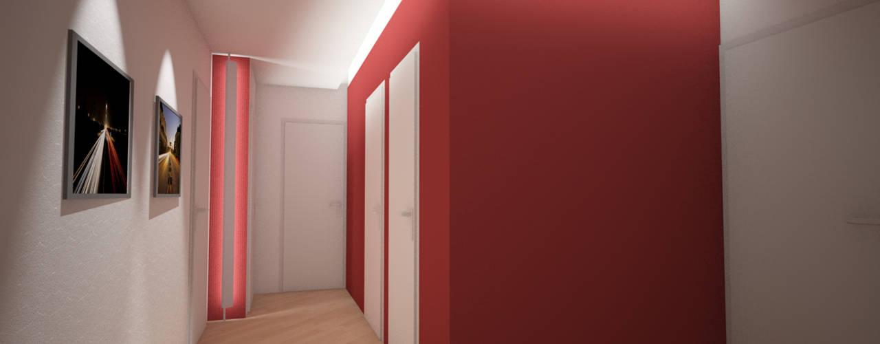 Pasillos, vestíbulos y escaleras de estilo minimalista de Giordana Arcesilai Minimalista