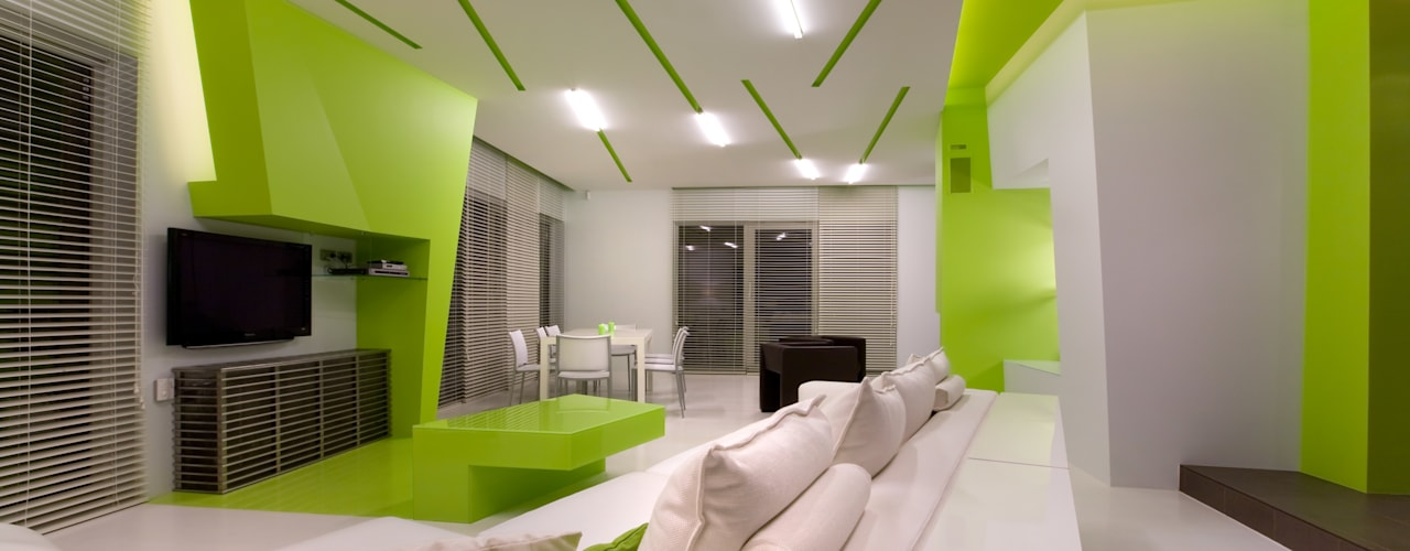 Salas / recibidores de estilo  por ARTRADAR ARCHITECTS
