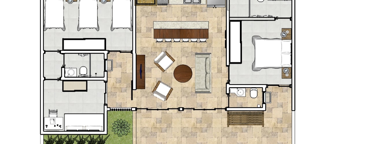 Huizen door Natali de Mello - Arquitetura e Arte