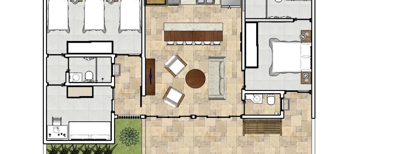 Casas de estilo  de Natali de Mello - Arquitetura e Arte, Tropical