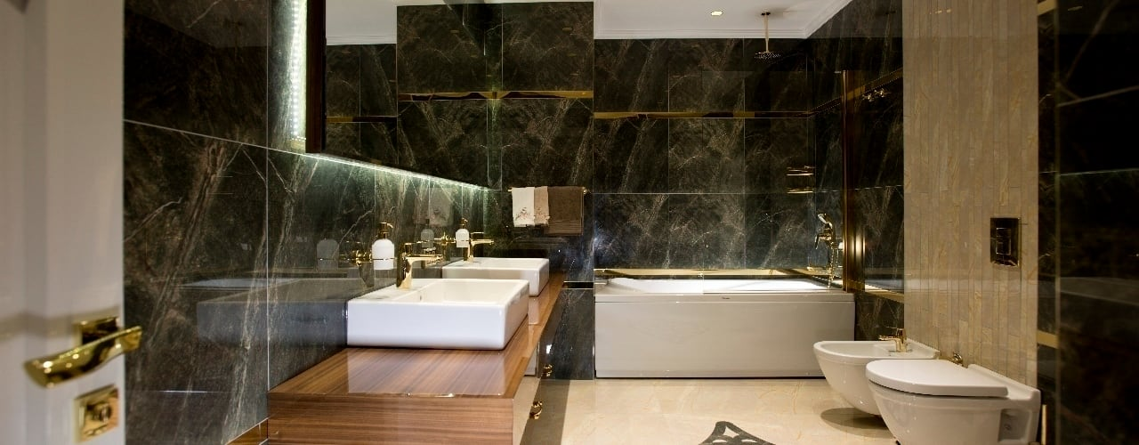 BABA MİMARLIK MÜHENDİSLİK Modern Bathroom