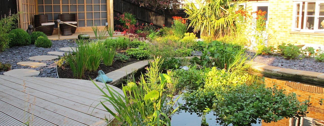 حديقة تنفيذ Katherine Roper Landscape & Garden Design , أسيوي