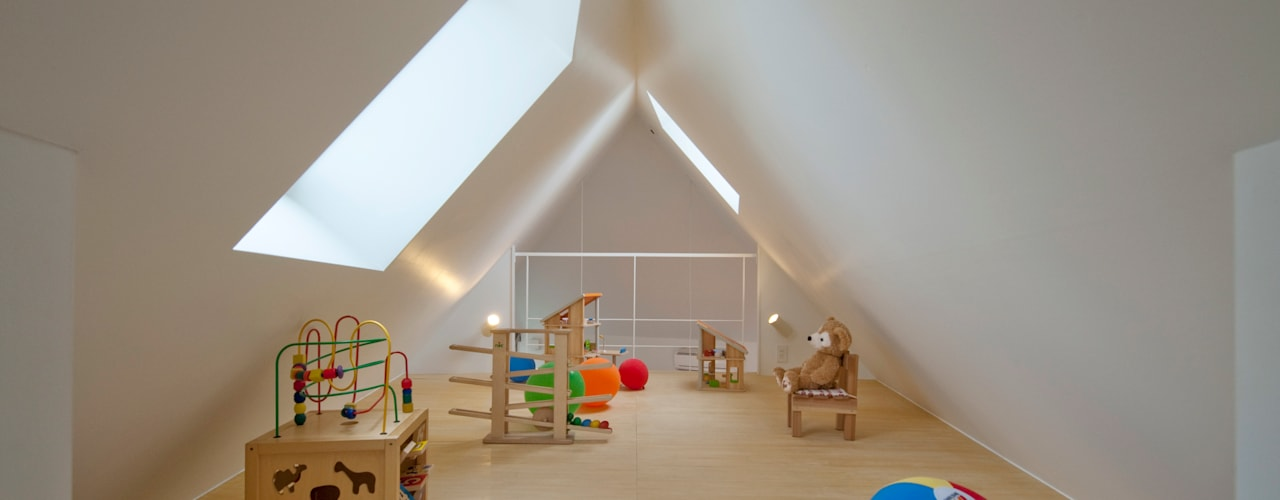 堀ノ内の住宅 モダンデザインの 子供部屋 の 水石浩太建築設計室/ MIZUISHI Architect Atelier モダン