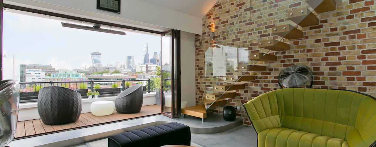 The Highway, Wapping, London, E1W Salas de estar modernas por Temza design and build Moderno