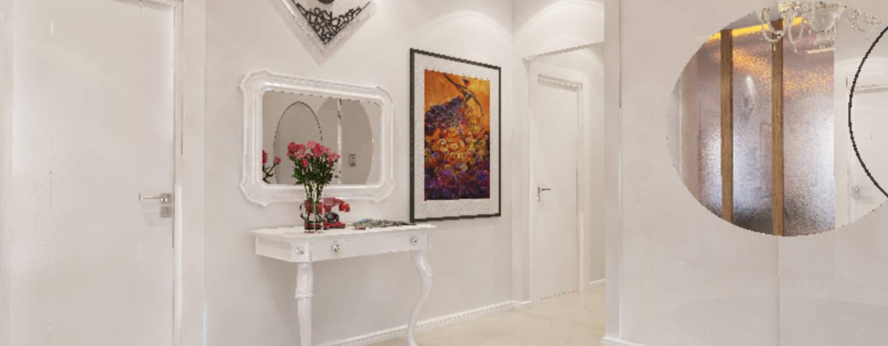 Paredes y pisos de estilo ecléctico de İNDEKSA Mimarlık İç Mimarlık İnşaat Taahüt Ltd.Şti. Ecléctico
