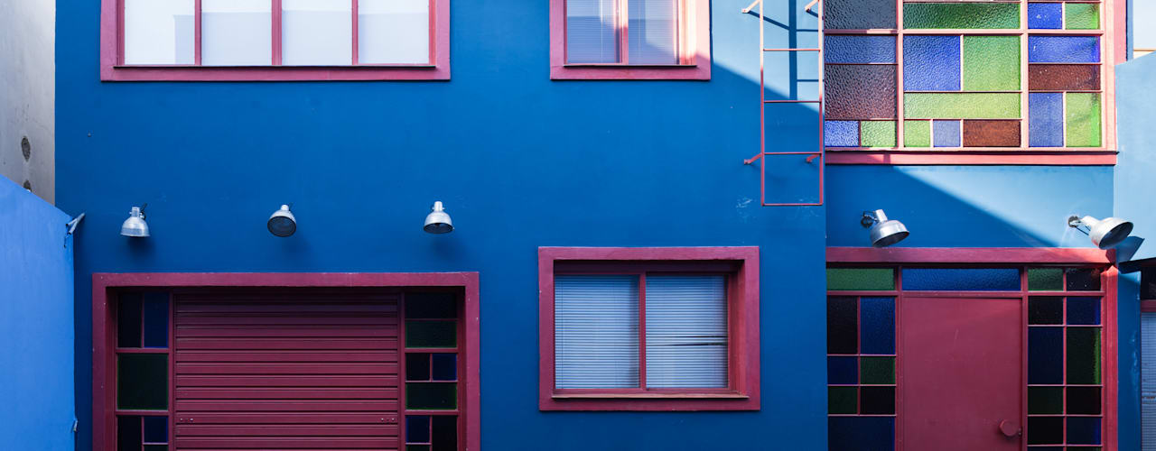 Casa Estúdio MC: Casas  por Blacher Arquitetura