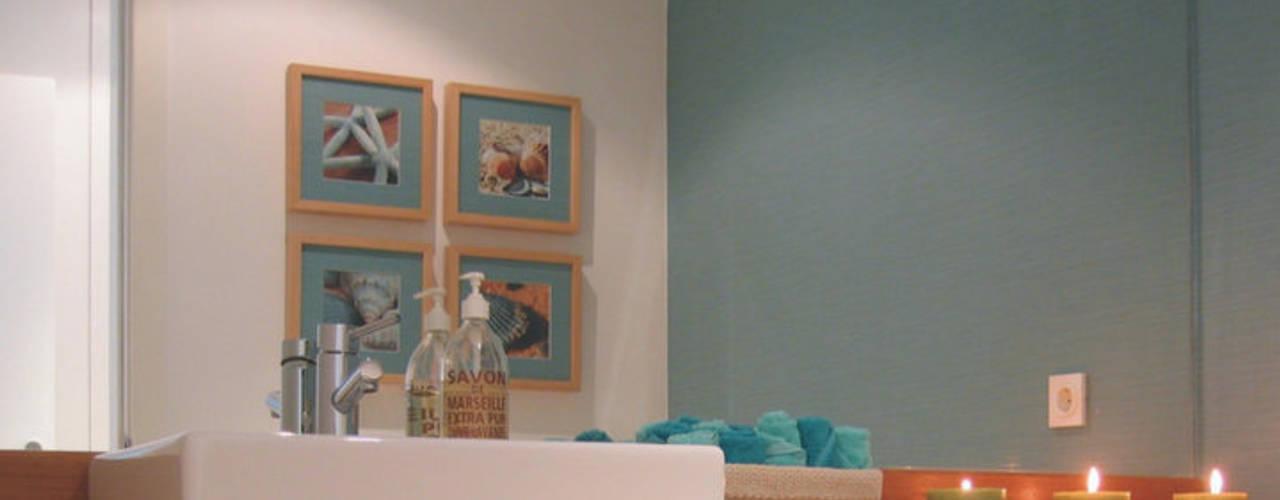 Apartamento c/ 2 quartos - Laranjeiras, Lisboa Casas de banho modernas por Traço Magenta - Design de Interiores Moderno