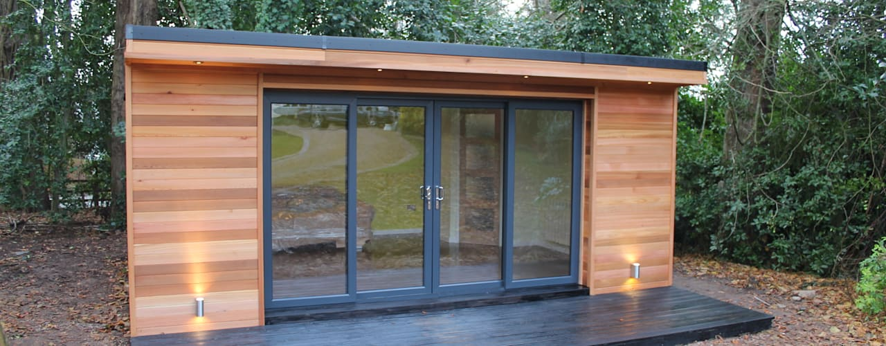 Studeerkamer/kantoor door Crusoe Garden Rooms Limited