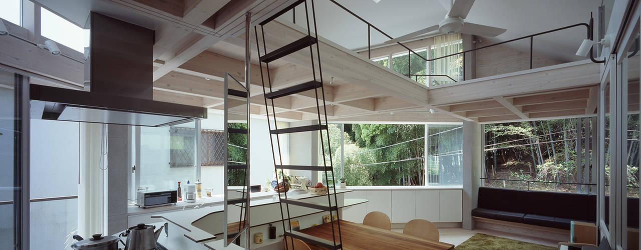2階LDK: kt一級建築士事務所が手掛けたダイニングです。